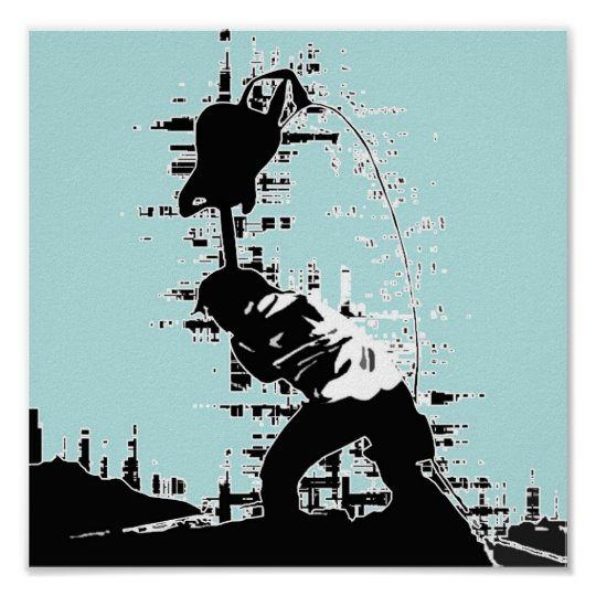 Guitar Smash Poster