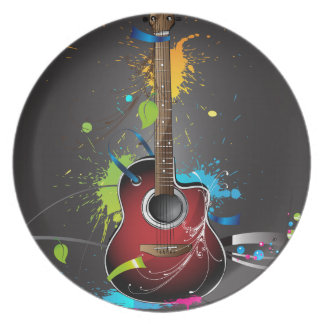 Guitar Splash Party Plate