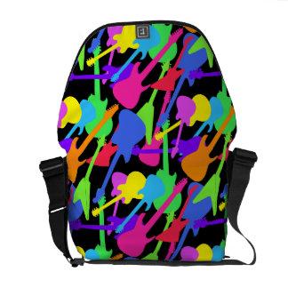 Guitar Splash Pattern Courier Bag