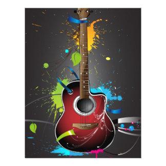 Guitar Splash Personalized Letterhead
