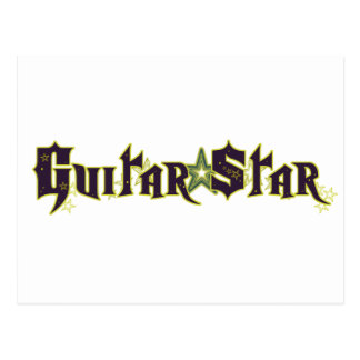 Guitar Star Postcard