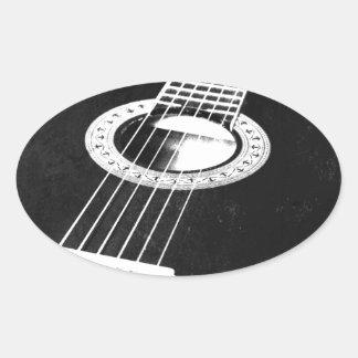 Guitar Oval Sticker