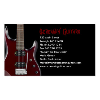 Guitar Store Design Business Card