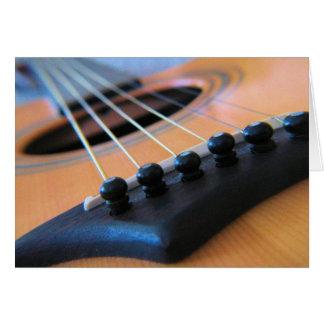 Guitar Strings  -  Blank Inside Greeting Card