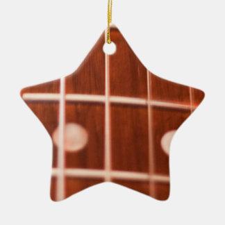 Guitar strings ceramic ornament