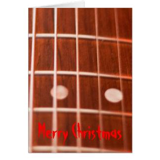 Guitar strings christmas card