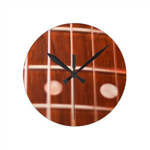 Guitar strings wall clock