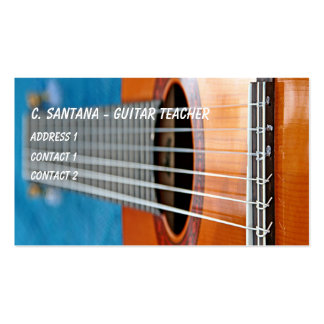 Guitar strings closeup Double-Sided standard business cards (Pack of 100)
