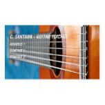 Guitar strings closeup business card template