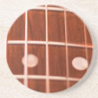 Guitar strings beverage coasters