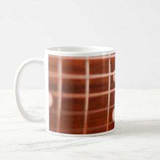 Guitar strings coffee mug