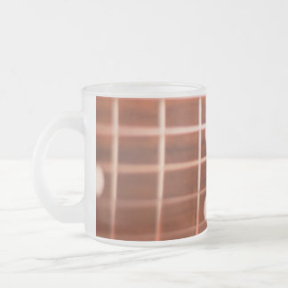 Guitar strings frosted glass coffee mug