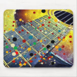 Guitar strings music vintage colorful mouse pad