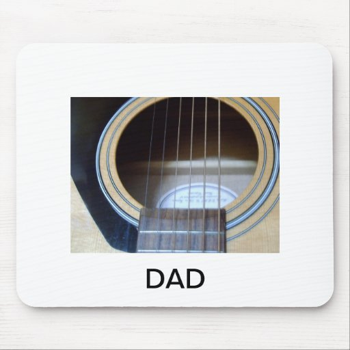 GUITAR STRINGS PERSONALISED BIRTHDAY CHRISTMAS MOUSE PAD