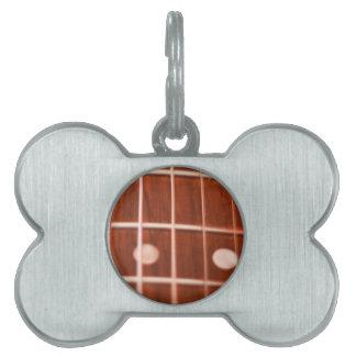 Guitar strings pet name tag