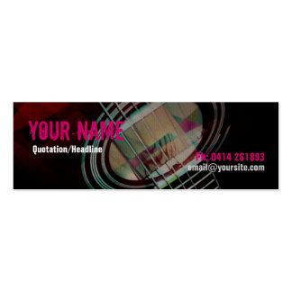 GUITAR Strings Pink Profile card Double-Sided Mini Business Cards (Pack Of 20)