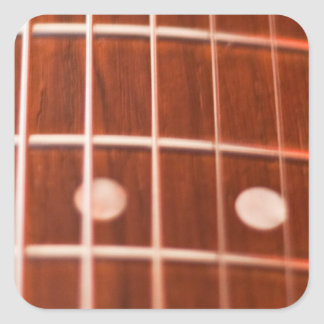 Guitar strings square stickers