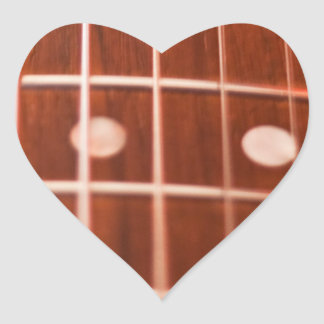 Guitar strings heart stickers
