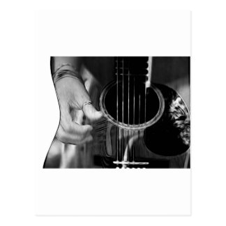 Guitar Strumming Postcard