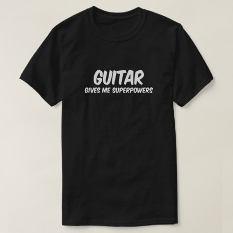 Guitar Superpowers Funny Superhero Music T-Shirt