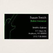 Guitar Teacher Business Card at Zazzle
