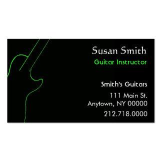 Guitar Teacher Business Card