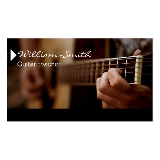 Guitar Teacher Double Sided Standard Business Cards Pack