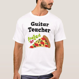 Guitar Teacher (Funny) Pizza T Shirt