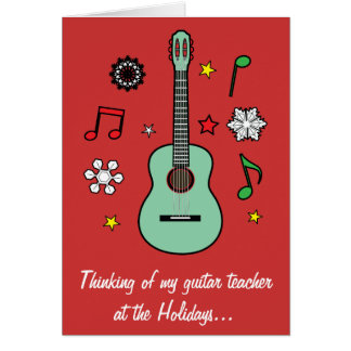 Guitar Teacher Holiday Card