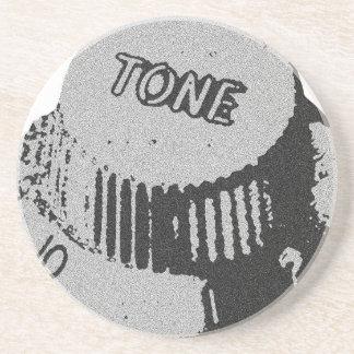 Guitar Tone Knob Drink Coaster