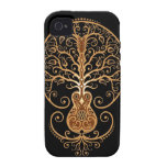 Guitar Tree, Brown and Black iPhone 4 Case