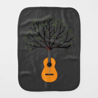 Guitar Tree Burp Cloth