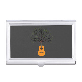 Guitar Tree Business Card Case