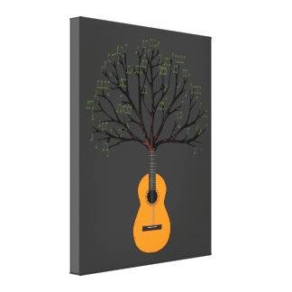 Guitar Tree Canvas Print