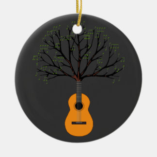 Guitar Tree Ceramic Ornament