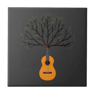 Guitar Tree Ceramic Tile