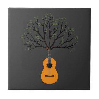 Guitar Tree Ceramic Tile