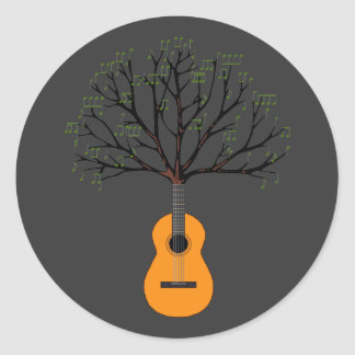 Guitar Tree Classic Round Sticker