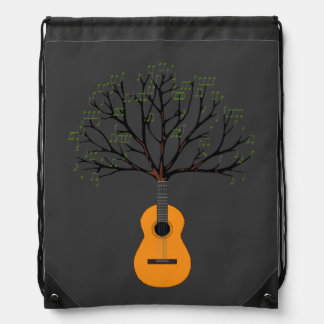 Guitar Tree Drawstring Backpack
