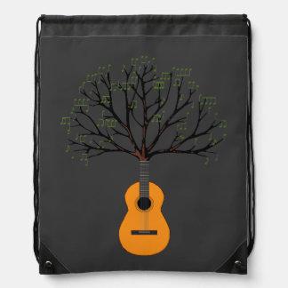 Guitar Tree Drawstring Backpack