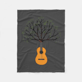 Guitar Tree Fleece Blanket