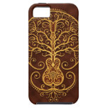 Guitar Tree, Golden Brown Case For The iPhone 5