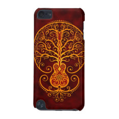 Guitar Tree – Golden Red Ipod Touch 5g Cover at Zazzle