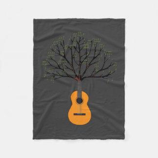Guitar Tree Fleece Blanket