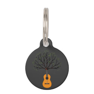 Guitar Tree Pet Tag