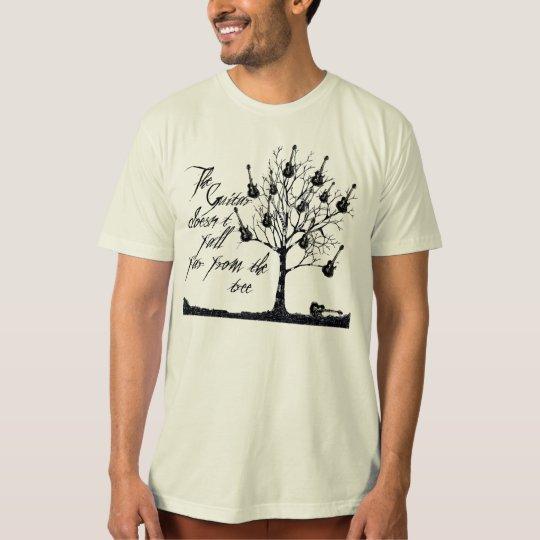 Guitar tree rock organic t-shirt