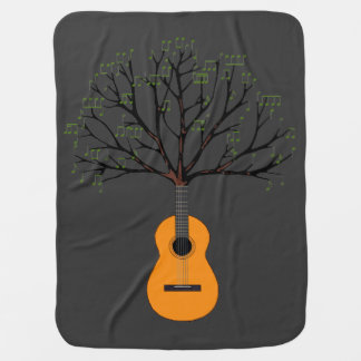 Guitar Tree Stroller Blanket