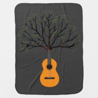 Guitar Tree Stroller Blanket