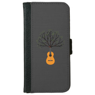 Guitar Tree Wallet Phone Case For iPhone 6/6s
