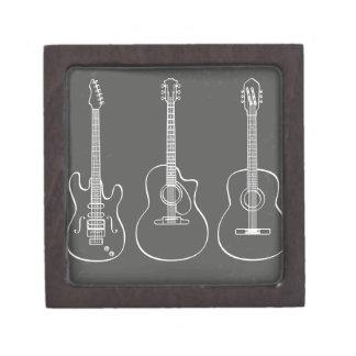 Guitar trio retro grunge music gift box